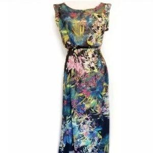 QED LONDON dress safari print tropical size M maxi